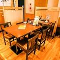 仲間同士の飲み会などに最適な6名様用のお席です。