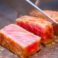 料理メニュー写真炙り神戸牛のレアステーキ