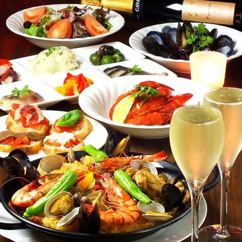 地中海料理をリーズナブルに♪可愛いデザートプレート付コース3500円登場
