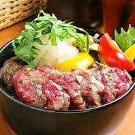 牛ハラミ丼(和風ソース)とココナッツチキンカレー