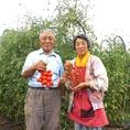 <生産農家の浅見さん!>三鷹の契約農家、浅見さんの作る野菜はイタリアンにぴったり。トマトやバジル、ズッキーニ、その他にも不思議な形のカリフラワー「ロマネスコ」や赤い色のじゃがいも「ドラゴンレッド」のような珍しい野菜も作っています【新宿三丁目駅/新宿/飲み放題/牡蠣/生カキ/野菜/パーティー/宴会/誕生日】