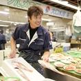 近江町市場で仕入れた新鮮な海産物を使った「日本海のごちそう」。