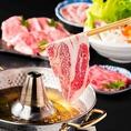 しゃぶしゃぶ食べ放題コースは2680円(税抜)~各種ご用意♪