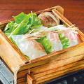 料理メニュー写真真鯛と国産野菜のちり蒸し~海の風塩仕立て~