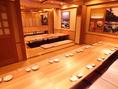 掘り炬燵席は、仕切りを取り払えば最大50名様まで宴会可能◎会社宴会など大型宴会のご利用にもオススメ♪
