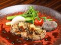 料理メニュー写真特撰フィレ肉とトコブシソテー山椒の香り