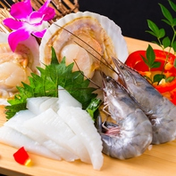 新鮮な海鮮メニューもご用意。