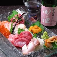 新鮮な海鮮と入手困難な日本酒