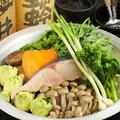 料理メニュー写真【春鍋】鰆と春野菜の味噌豆乳鍋