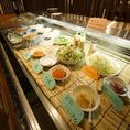アイスベッドには野菜や薬味をご用意しております!様々な組み合わせを楽しんで♪