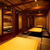 全席個室。25部屋ご用意してます。