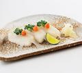 料理メニュー写真ふぐ寿司 (3貫)