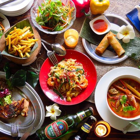 狸小路1丁目の路地裏!東南アジア6か国の料理が堪能できるリゾートレストラン。