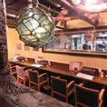 関東でも人気の漁師街的雰囲気の店内!海辺の町の情緒が食欲をそそります。宴会コースは3480円からご用意。