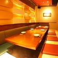8~10名様まで入れる掘りごたつ個室。ゆったり広々、落ち着く空間で岡山の味をお楽しみください。