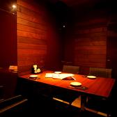 少人数でご利用できます。雰囲気抜群のテーブル個室風空間。