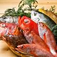 毎日仕入れる新鮮な魚を豪快にさばき提供しております。