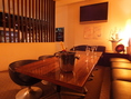 中二階のソファー半個室 最大25名まで着席可