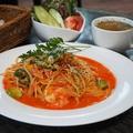 料理メニュー写真海老とアボカドのトマトクリームソース