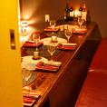 ゆったりお洒落なお席はフレキシブルに対応可能です。小規模から大規模のご宴会でも個室にてご案内できます。皆様のご来店を心よりお待ちしております。
