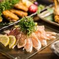 料理メニュー写真滋賀県近江黒鶏のタタキ