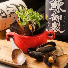 ハマグリとムール貝の酒蒸し