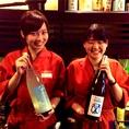 自慢の日本酒はぜひ目の前でそそぐもっきりがオススメですよ!