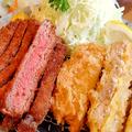 料理メニュー写真「牛かつ&豚かつ」も大好評です!