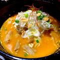 料理メニュー写真自家製ピリ辛もつ味噌豆腐