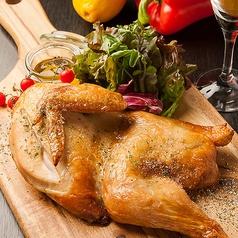 半身鶏のオーブン焼き