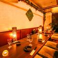 プライベート個室(テーブル)!6名様から14名様までご利用可能です~個肉バル 宴会 飲み会 女子会 合コン 記念日 誕生日 デート 3時間 無制限 飲み放題 食べ放題ならデザイナーズ個室×食べ放題 桜ガーデン-sakura garden- 渋谷店