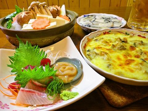 旬の魚介類にこだわる老舗居酒屋。焼き鳥や定食、家庭料理まで豊富な料理を楽しもう。