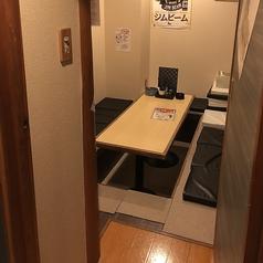 足を伸ばしてくつろげるお座敷席もございます。完全個室空間なので、仲間内でのトークも盛り上がります♪