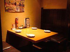 ブースシートのくつろぎテーブル席。