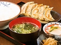 料理メニュー写真餃子ダブル定食