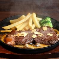 ボリューム満点のステーキ