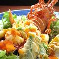 料理メニュー写真車海老の天ぷら又はチリソースがけ