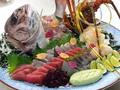 料理メニュー写真鯛と伊勢海老の姿造り