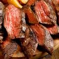 料理メニュー写真牛サガリステーキ ジャポネソース