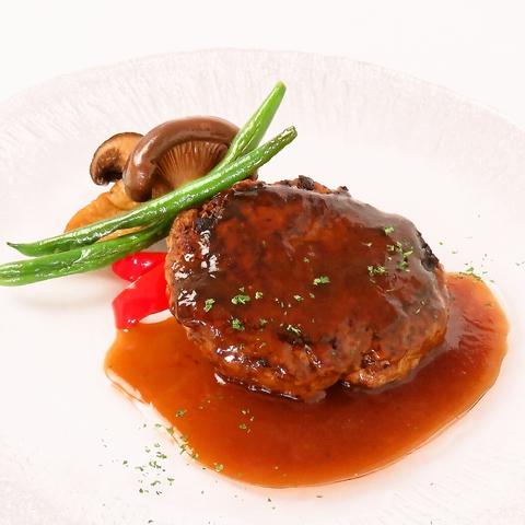【ランチ】マグリットハンバーグ ※前菜・スープ・スペシャリテデザート食べ放題付き