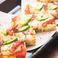 モッツァレラチーズとアボカドの角ピザ