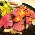 料理メニュー写真牛ハラミのステーキ~サフランマッシュポテトを添えて~