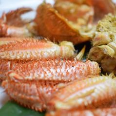 料理メニュー写真浜茹で毛蟹ハーフ
