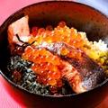 料理メニュー写真鮭とイクラの焼きおに茶漬け