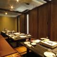 こちらは24名様程度のご宴会で人気の掘りごたつ個室です。広島駅南口から徒歩2分なので集合や解散にも便利!