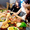 時間無制限食べ飲み放題で、女子会も時間を気にせずゆっくりとお楽しみ頂けます!!利用シーンに合わせた個室をご用意!誕生日、記念日には主役へのメッセージデザートプレートをお店からプレゼントいたします!