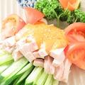料理メニュー写真棒棒鶏/海鮮サラダ/れんこんともち米の秘伝冷菜/四川風よだれ鶏