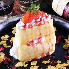 苺とチーズのミルフィーユ