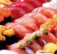 美味しい江戸前握りやお刺身を、少人数様からお召し上がりいただけます。
