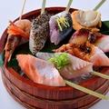 料理メニュー写真炙り海鮮串 8種盛り